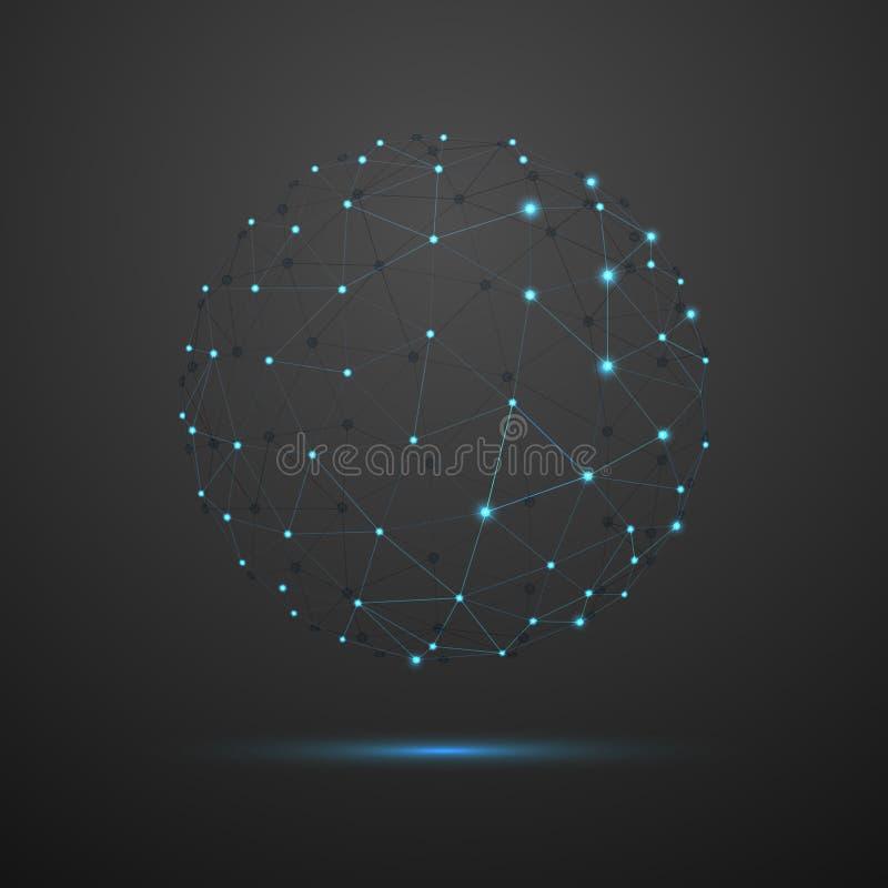 抽象几何传染媒介球形 向量例证