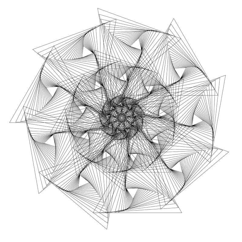 抽象几何传染媒介 向量例证