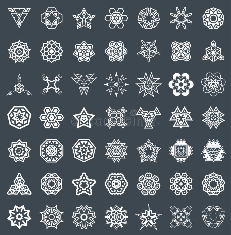 抽象几何元素,仿造种族阿兹台克人或玛雅人传染媒介 皇族释放例证