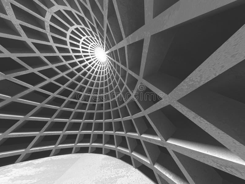 抽象几何具体建筑学背景 库存例证