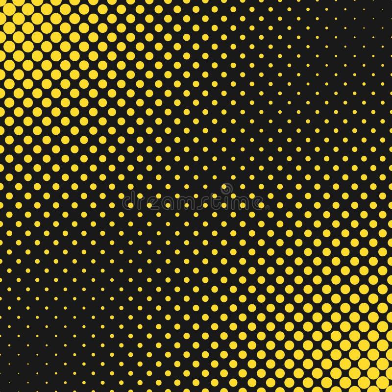 抽象几何半音光点图形背景-向量图形设计 库存例证