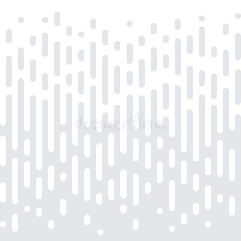 抽象几何半音无缝的样式传染媒介白色最小的梯度纹理背景 皇族释放例证