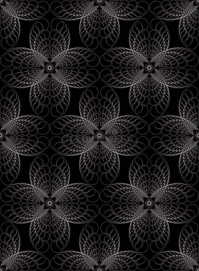 抽象几何半音无缝的样式同心圆 皇族释放例证