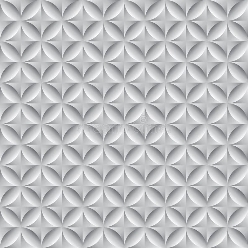 抽象几何圈子无缝的样式背景 库存例证