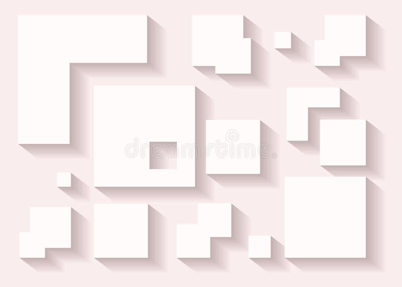 抽象几何形状导航与阴影的装饰在普遍的pi 库存例证