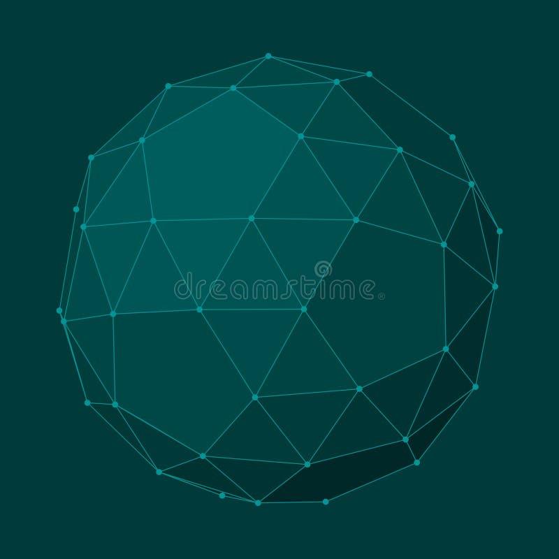 抽象几何形状 皇族释放例证