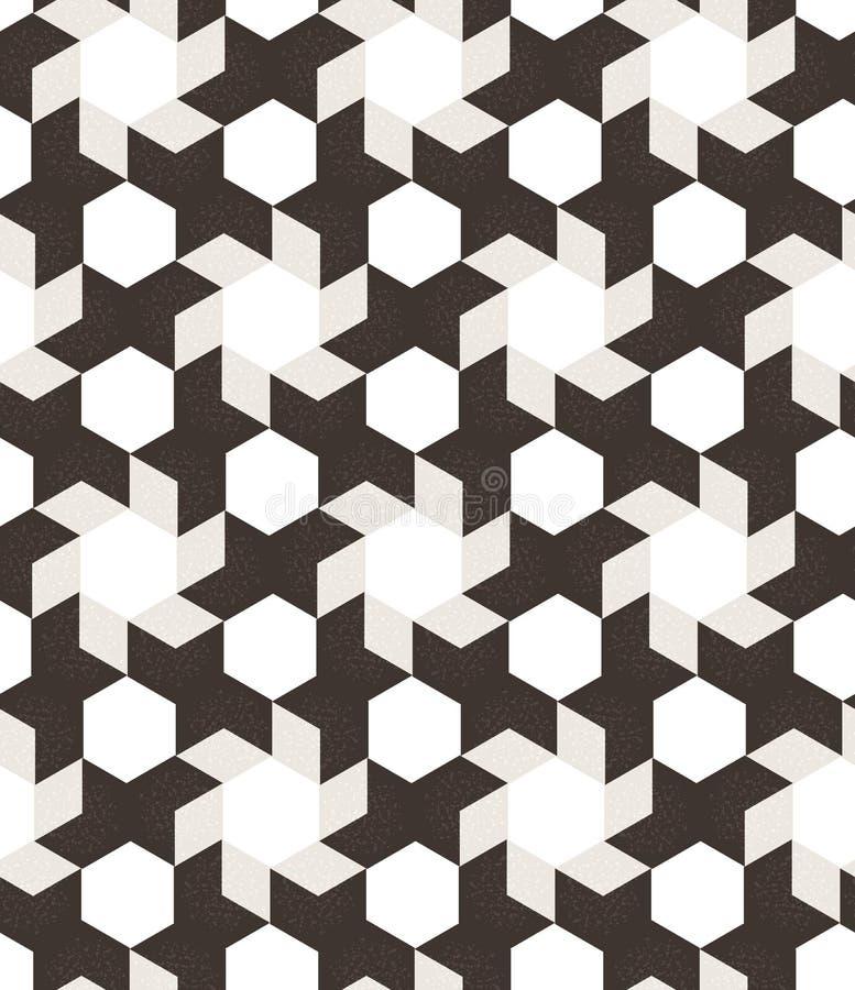 抽象几何无缝的图表行家 库存例证
