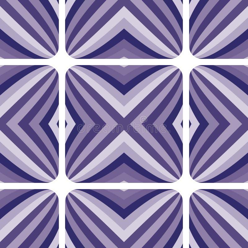 抽象几何无缝的样式,传染媒介背景 向量例证