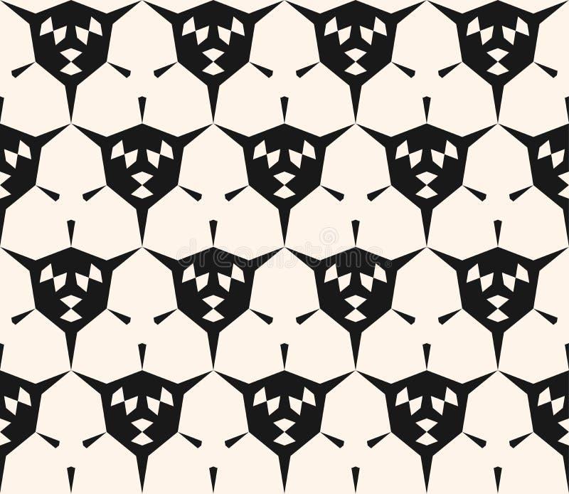 抽象几何无缝的样式,有角的形状,六角形 库存例证