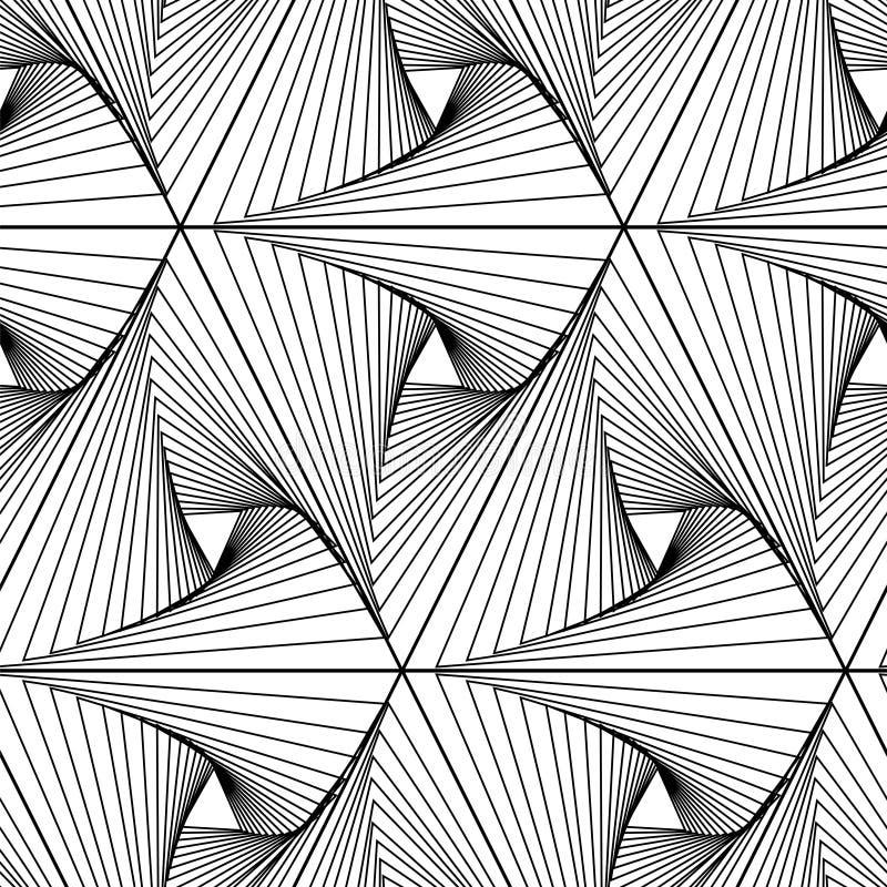 抽象几何无缝的样式 皇族释放例证