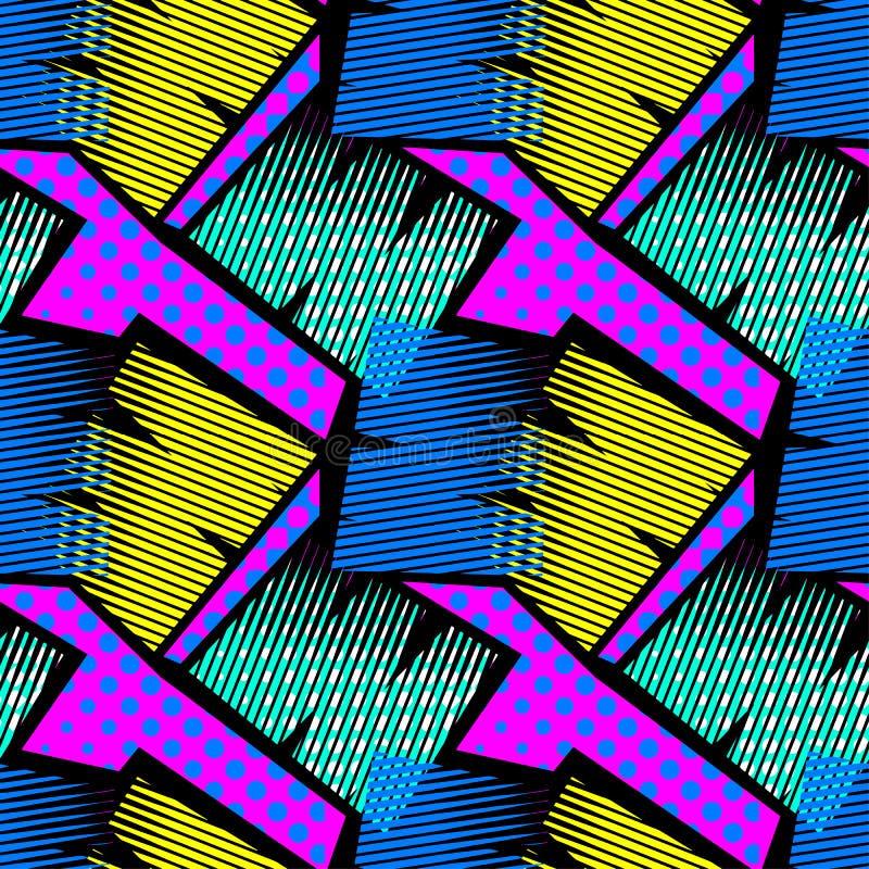 抽象几何无缝的概略的难看的东西样式,现代desig 库存照片