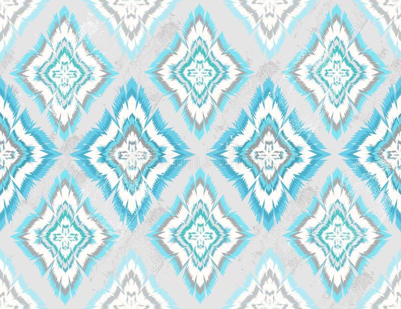 抽象几何无缝的阿兹台克模式 皇族释放例证