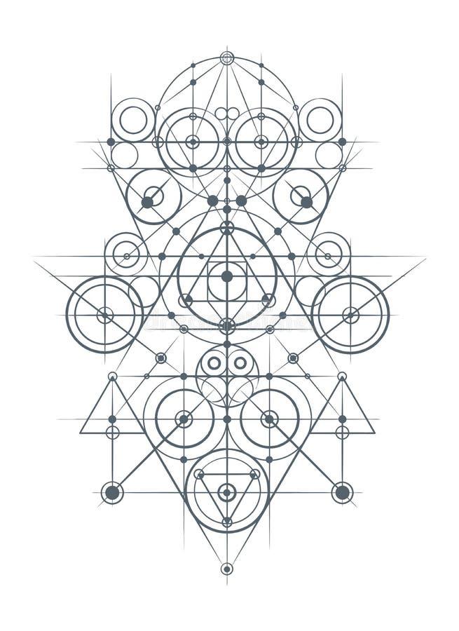 抽象几何构成 皇族释放例证