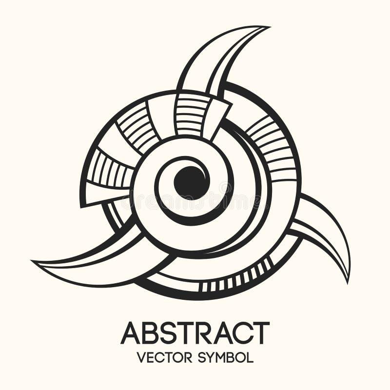 抽象几何标志 想象力的概念 也corel凹道例证向量 库存例证