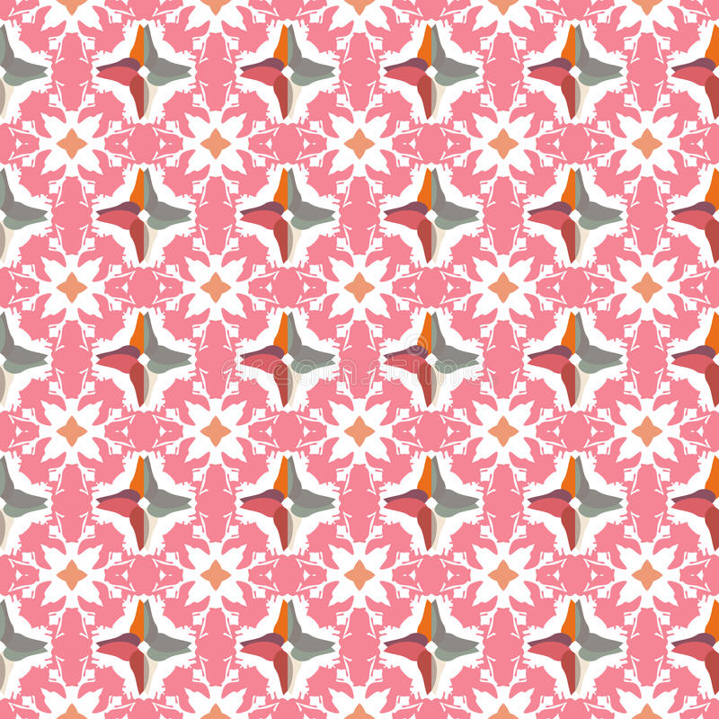 抽象几何样式,花卉背景 库存图片