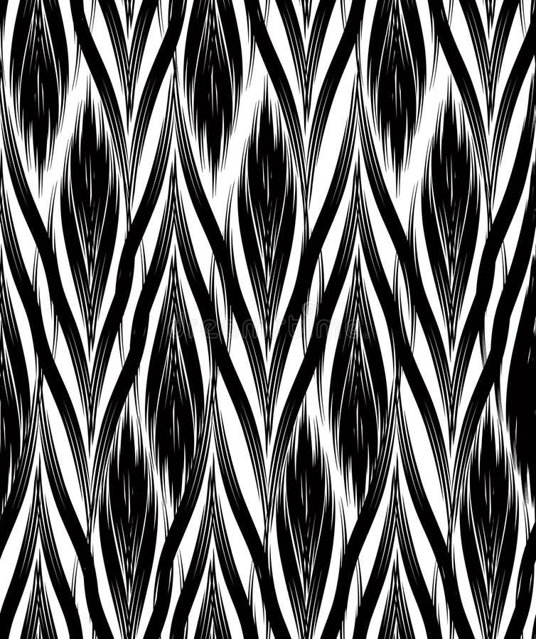 抽象几何模式 无缝的线装饰物背景 向量例证
