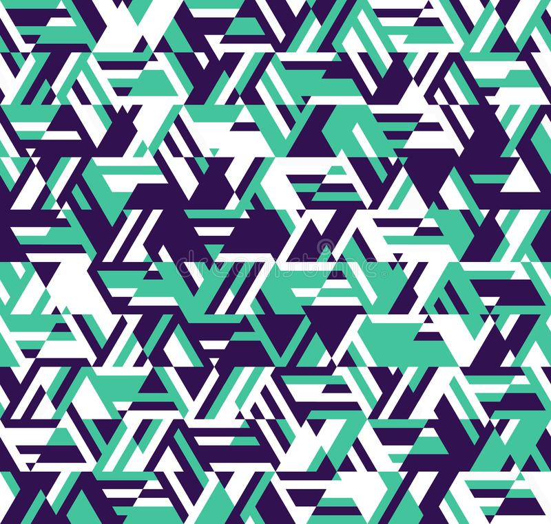 抽象几何模式 线和三角万花筒  向量例证