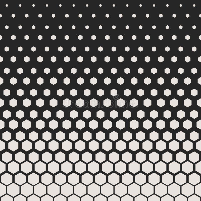 抽象几何模式 行家时尚设计印刷品六角样式 在黑背景的白色蜂窝 向量 向量例证