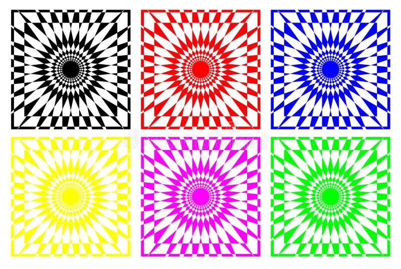 抽象几何模式 向量例证