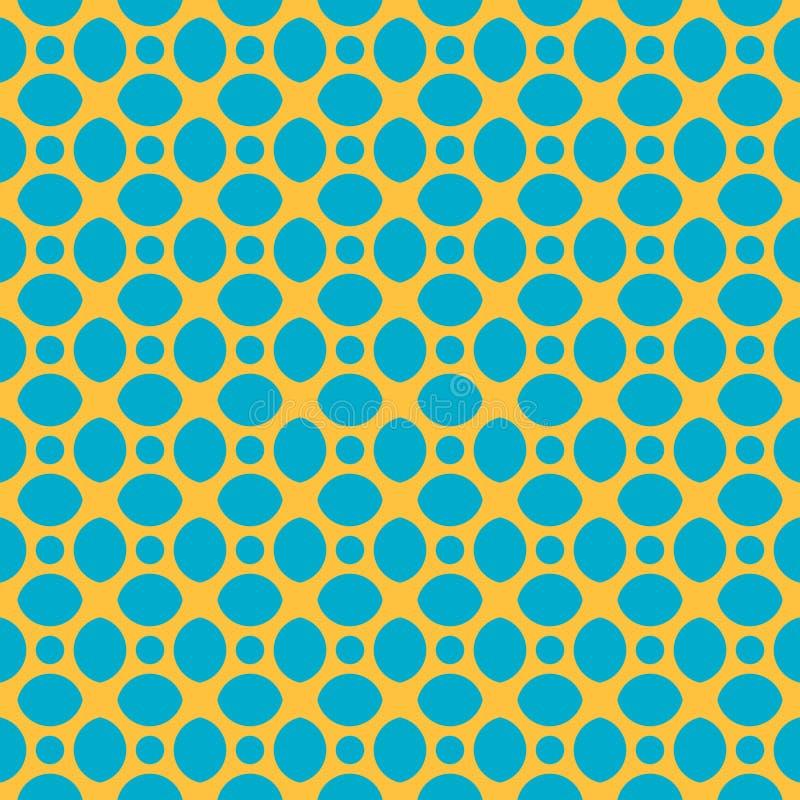 抽象几何石头的传染媒介无缝的样式 向量例证