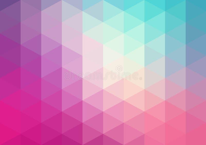 抽象几何背景,三角 库存例证