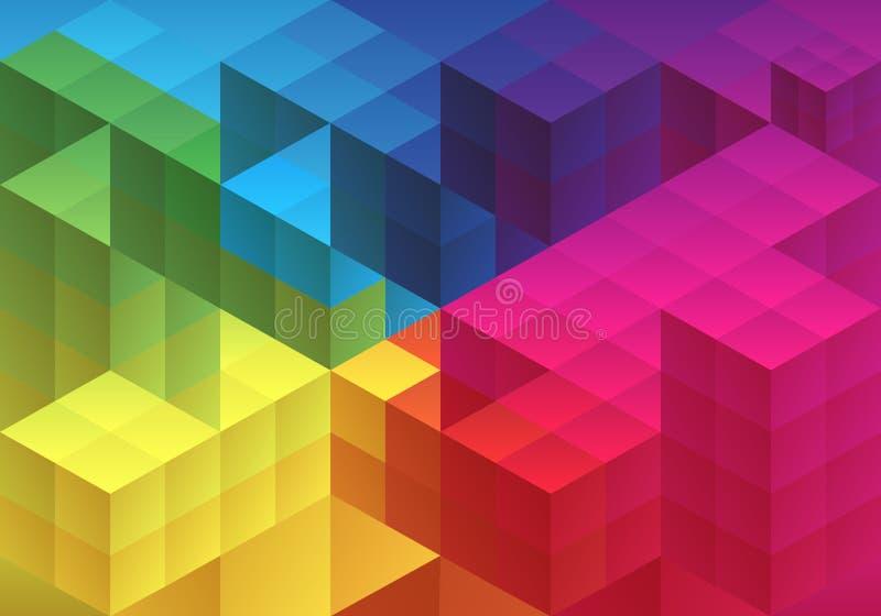 抽象几何背景,传染媒介 皇族释放例证