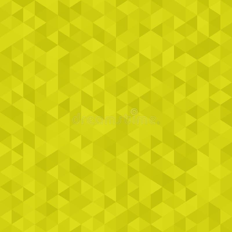 抽象几何背景,在柠檬绿颜色的多角形样式 三角背景 库存例证