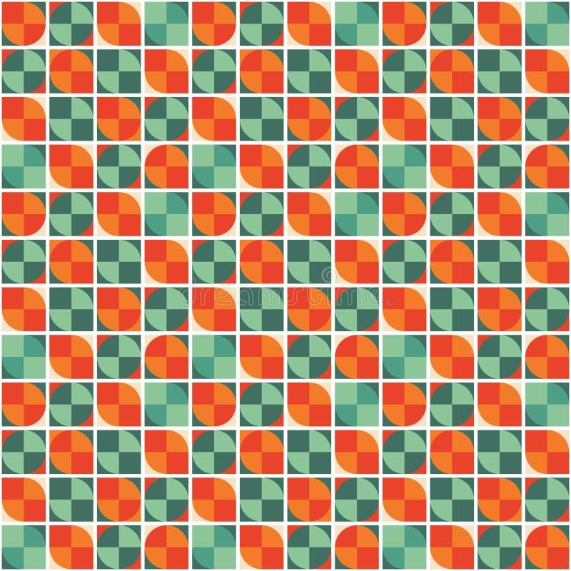 抽象几何背景-无缝的传染媒介样式 向量例证
