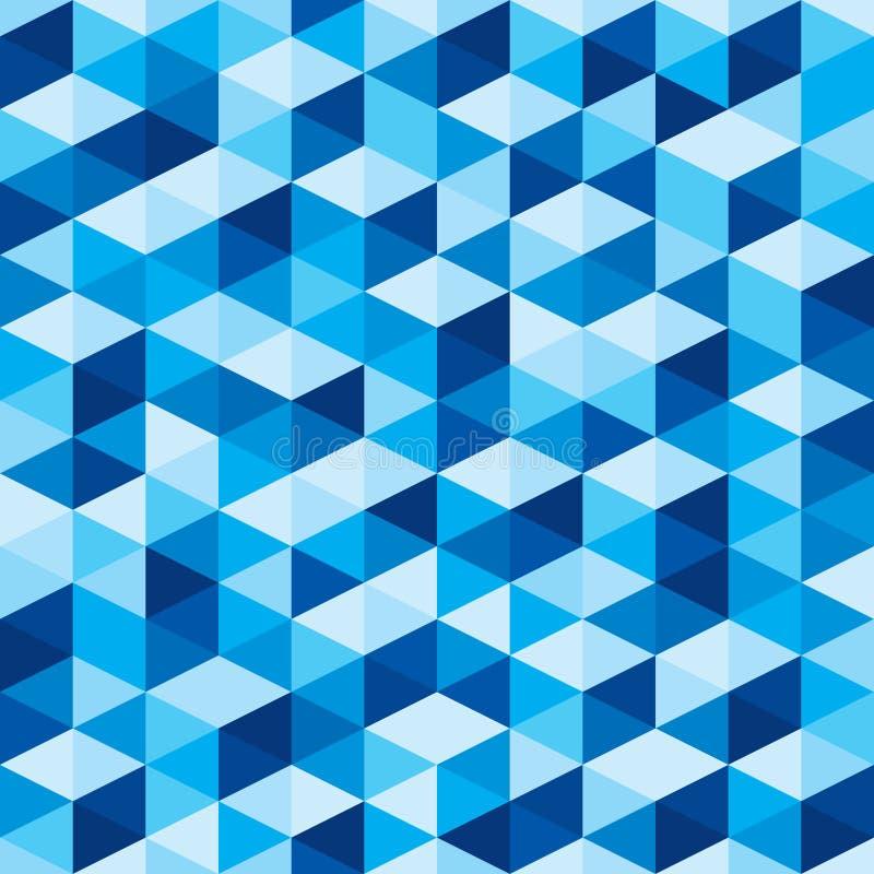 抽象几何背景-无缝的蓝色样式 向量例证