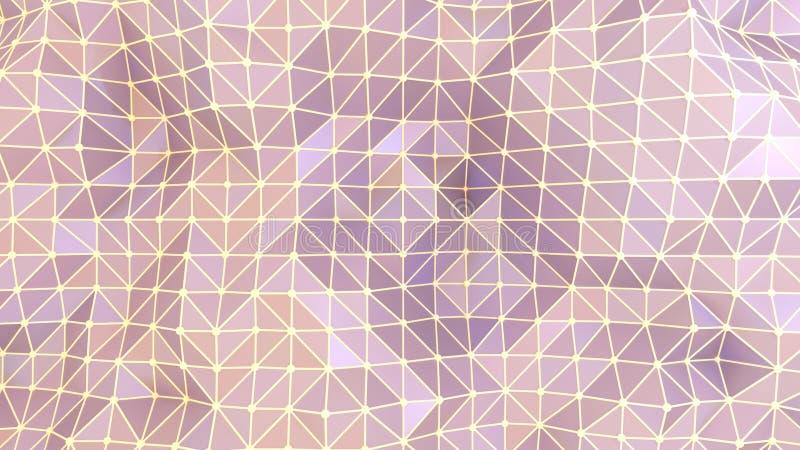 抽象几何背景紫色三角和线 向量例证
