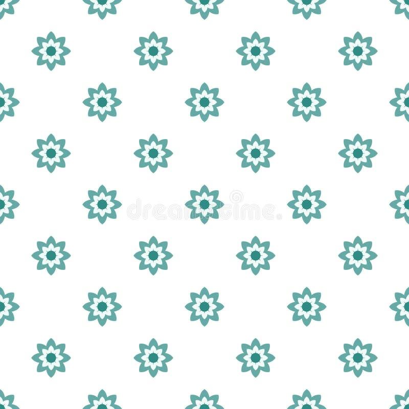 抽象几何花无缝的样式 皇族释放例证