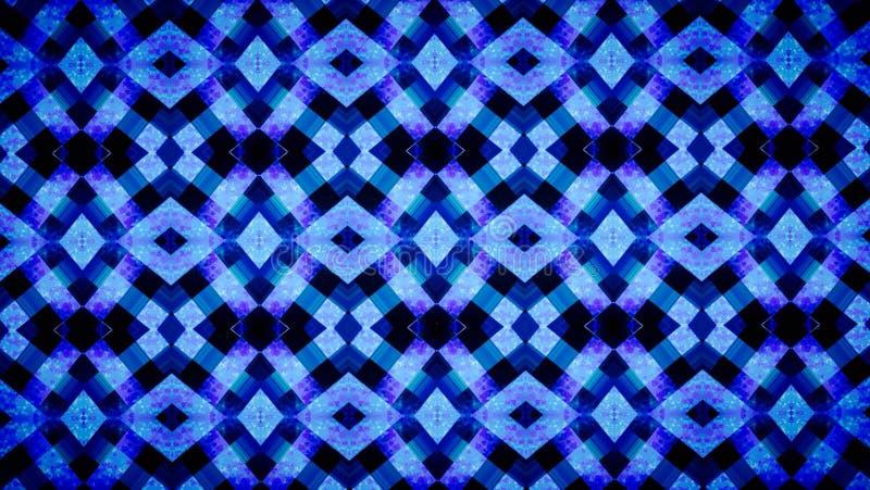 抽象几何蓝色墙纸 免版税库存照片