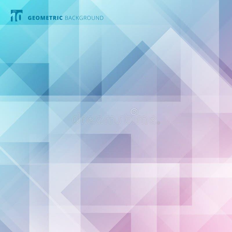 抽象几何蓝色数字式未来派设计背景 皇族释放例证