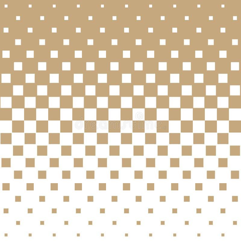 抽象几何行家时尚半音金正方形样式 库存例证