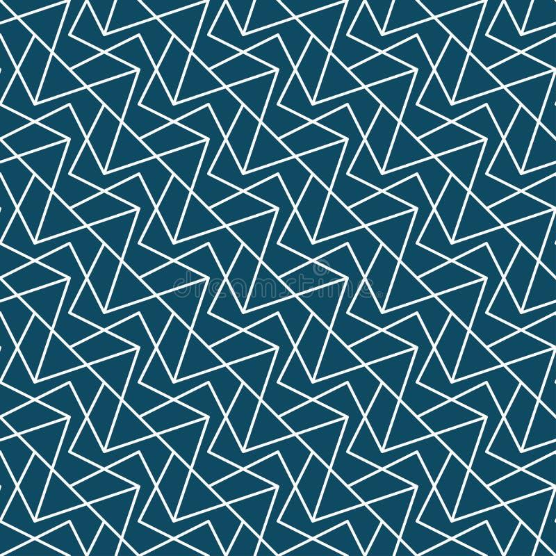 抽象几何行家时尚枕头蓝色任意网格图形 库存例证