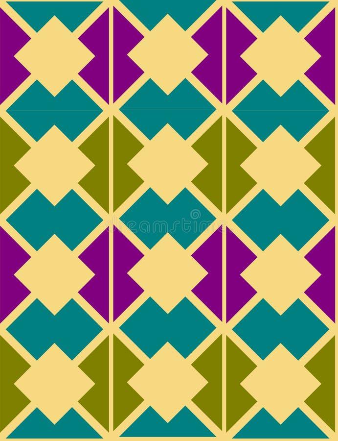 抽象几何装饰物 库存例证