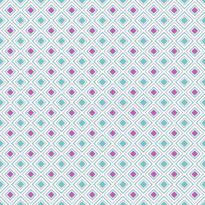 抽象几何金刚石形状无缝的样式,传染媒介 向量例证