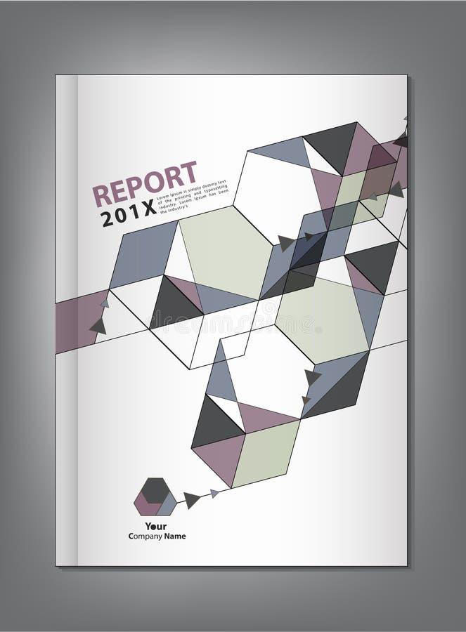 抽象几何年终报告盖子设计 库存例证