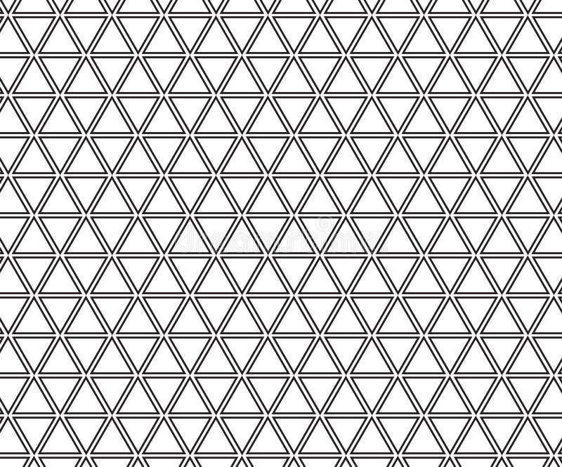 抽象几何黑白行家时尚枕头三角栅格 向量例证