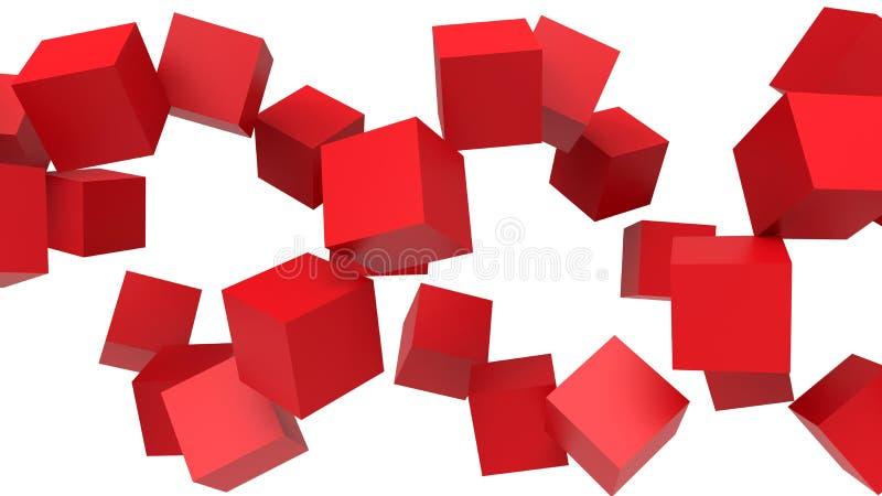 抽象几何-立方体 向量例证