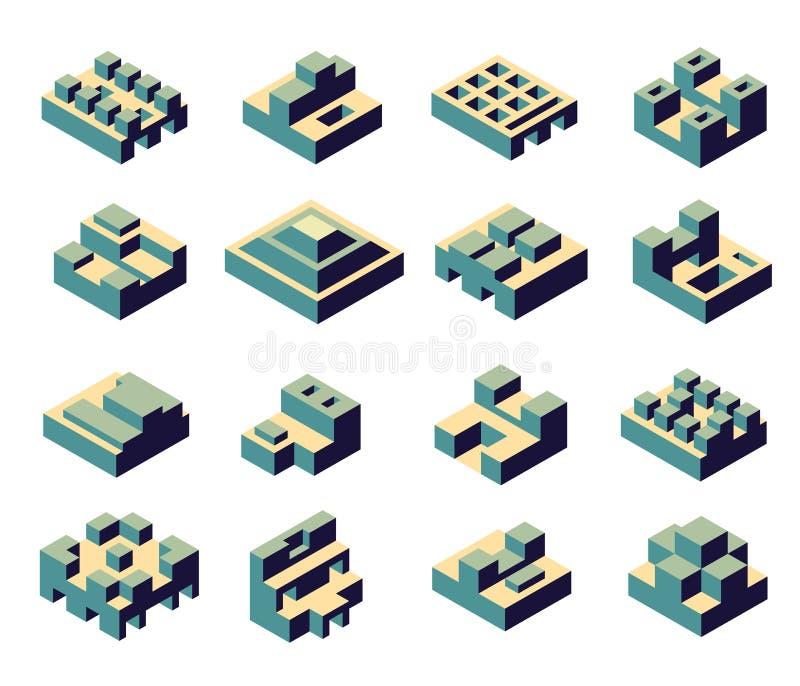 抽象几何 皇族释放例证