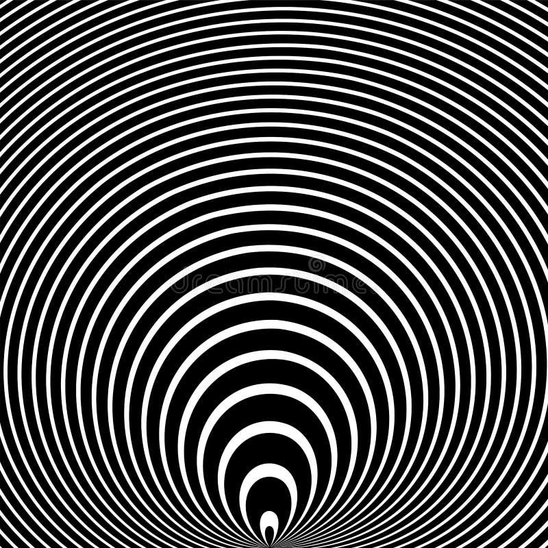 抽象凸面纹理 圈子线样式 库存例证