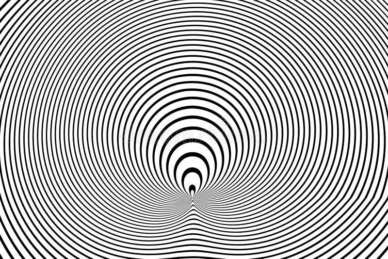 抽象凸面纹理 圈子线样式 向量例证