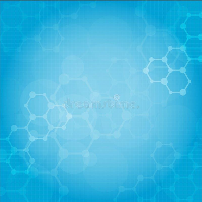 抽象分子医疗背景 皇族释放例证