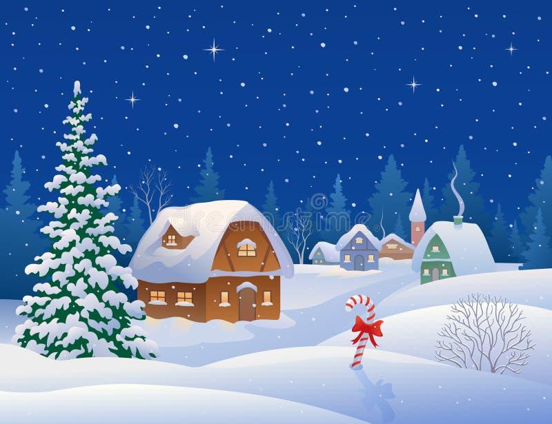 抽象分数维图象晚上冬天 向量例证