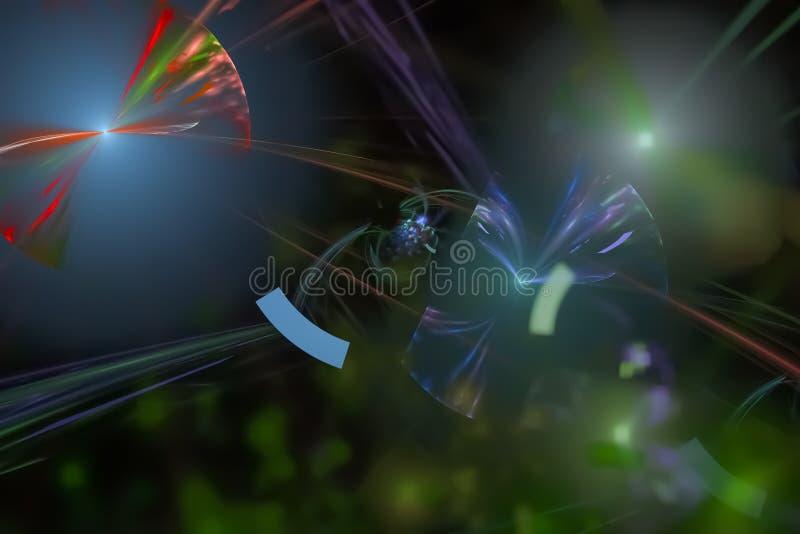 抽象分数维幻想设计发光的作用 皇族释放例证