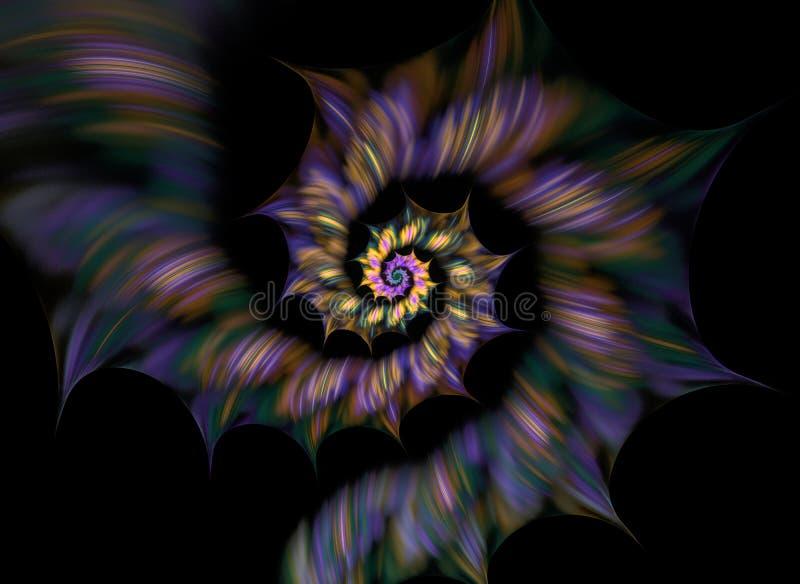 抽象分数维螺旋 向量例证