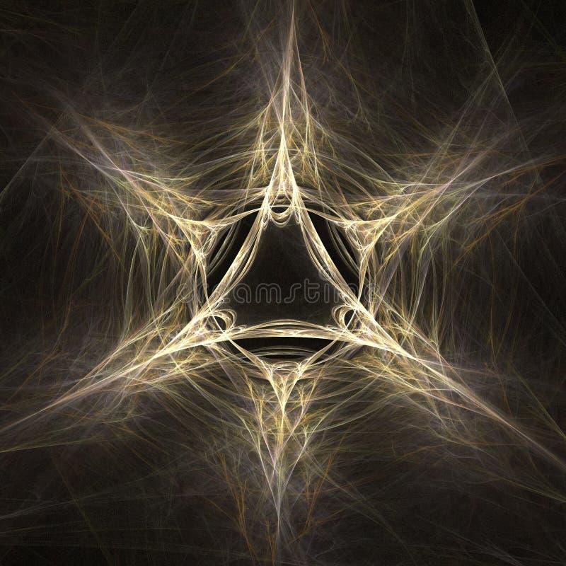 抽象分数维魔术星形 皇族释放例证