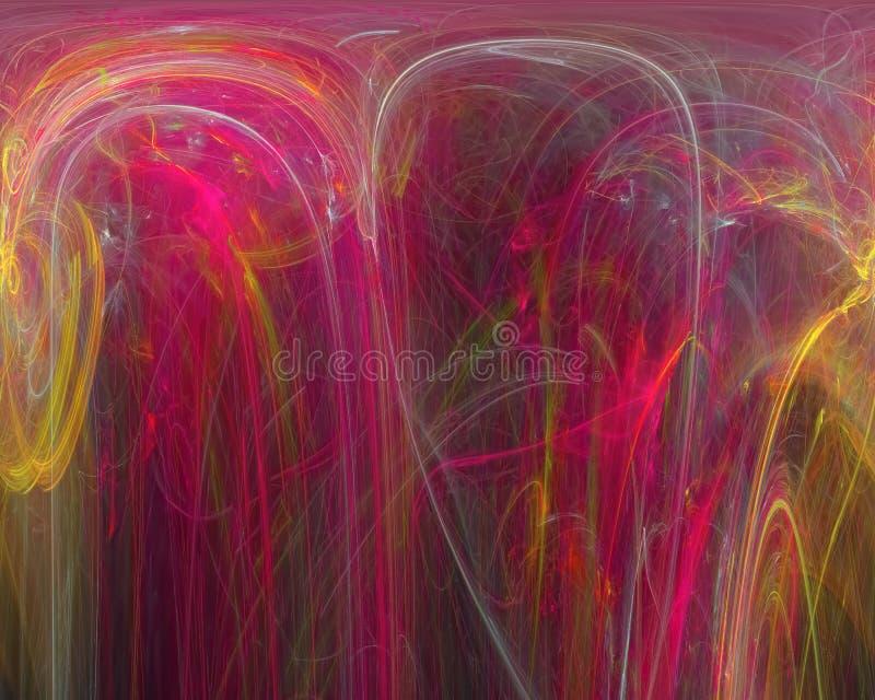 抽象分数维,发出黑暗的幻想想象力设计爆炸的闪闪发光纹理充满活力的表面,意想不到 向量例证