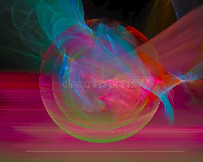 抽象分数维,独特的纹理作用幻想设计,党,迪斯科模板 向量例证